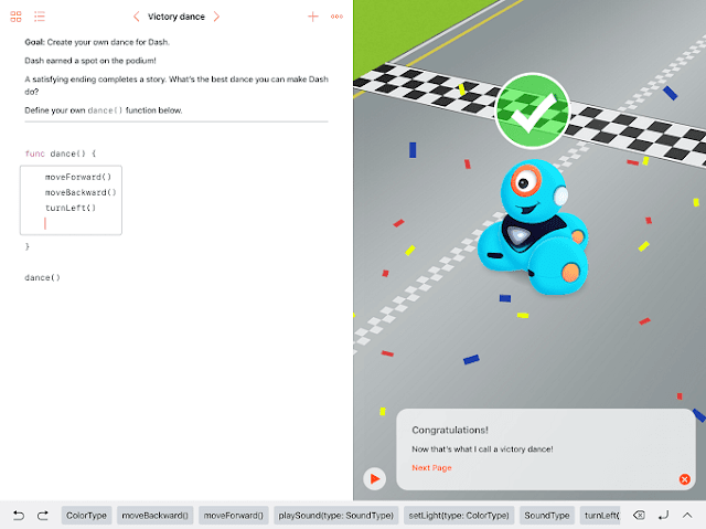 Controlling a Wonder Workshop's Dash robot using Swift Playgrounds