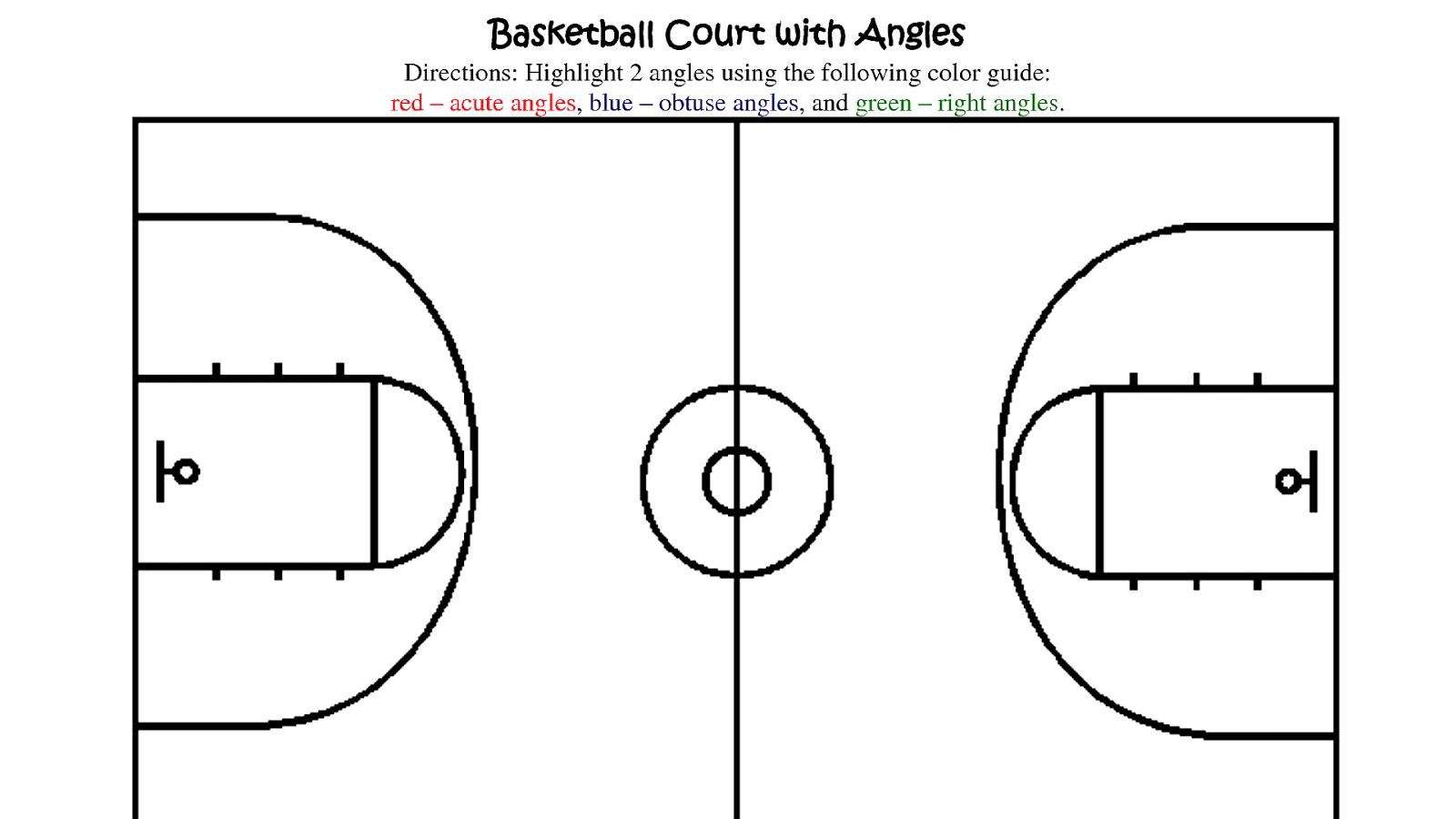 Basketball Court Printable - Basketball Choices