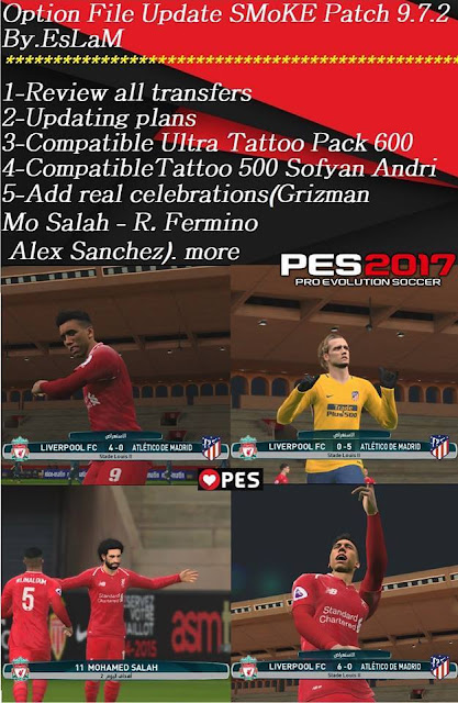 Option File Update For SMoKE Patch 9.7.2 PES 2017