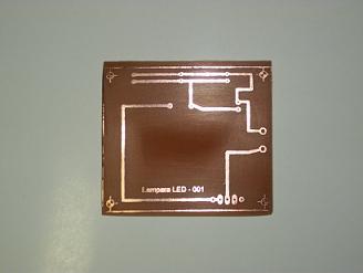 Circuito impreso Linterna de LEDS.