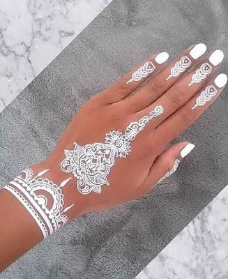 1. White Mehndi