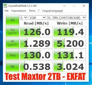 prestazioni-test-Maxtor-2TB-exfat