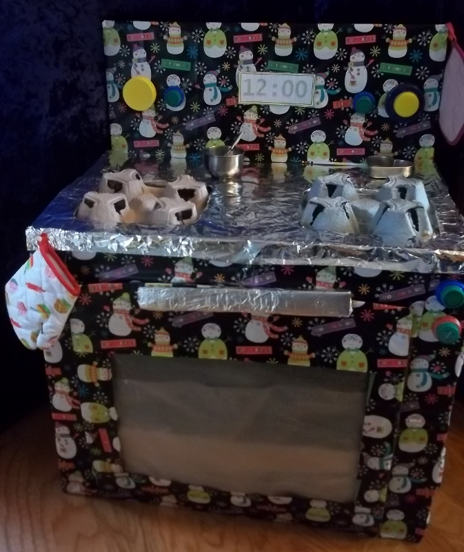 How To Make A Kitchen Stove For Kids Pretend Play From A