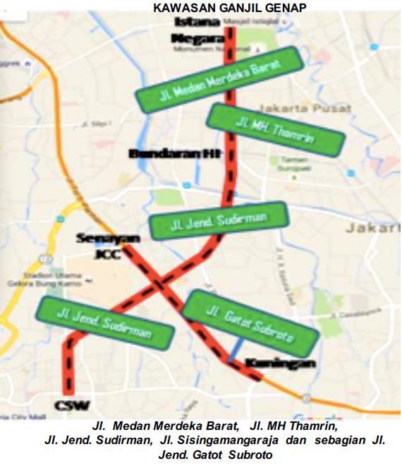Kawasan Ganjil Genap Jakarta | Biaya dan Tarif