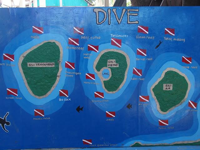 islas gili mapa
