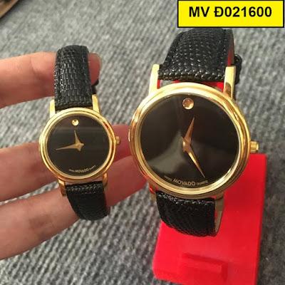 đồng hồ nữ dây da movado đ021600
