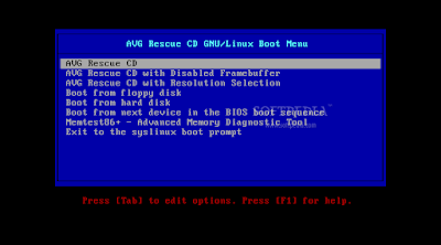 AVG Rescue CD: CLI Based Rescue & Repair Tools