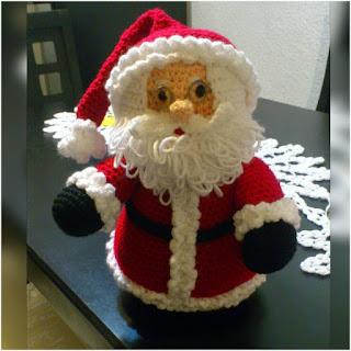 patron amigurumi Papá Noel novedades jenpoali