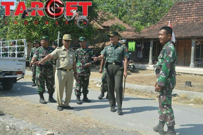 Dandim 0718 Pati Tinjau Langsung Kesiapan TMMD Sengkuyung II di Desa Kasiyan Sukolilo Pati