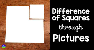 factoring difference of squares through pictures