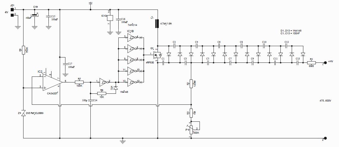 Remco's Blog: 500V High Voltage power supply for Geiger