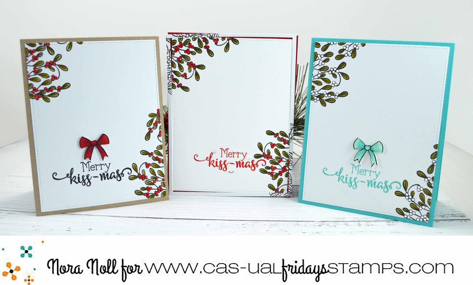 CAS-ual Fridays Stamps: Simple Christmas Cards using the Mistletoe ...
