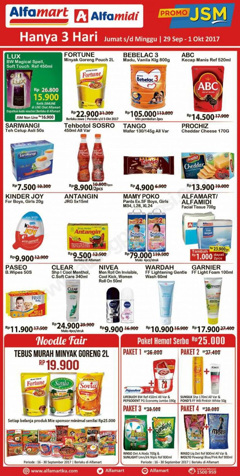 Alfamidi Katalog Jsm Jumat Sabtu Minggu Promo Weekend Periode 29 September 01 Oktober 2017