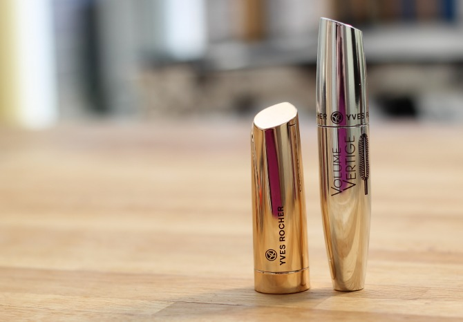 Yves Rocher lipstick and mascara