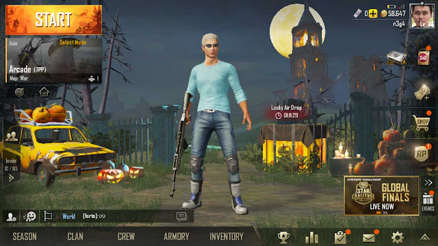game pubg mobile lancar di hape kentang redmi 4x