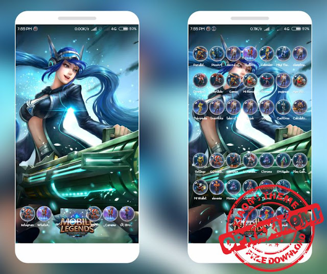 Download Tema Keren Xiaomi Game Mobile Legends Mtz Terbaru Untuk MIUI V9 / V8