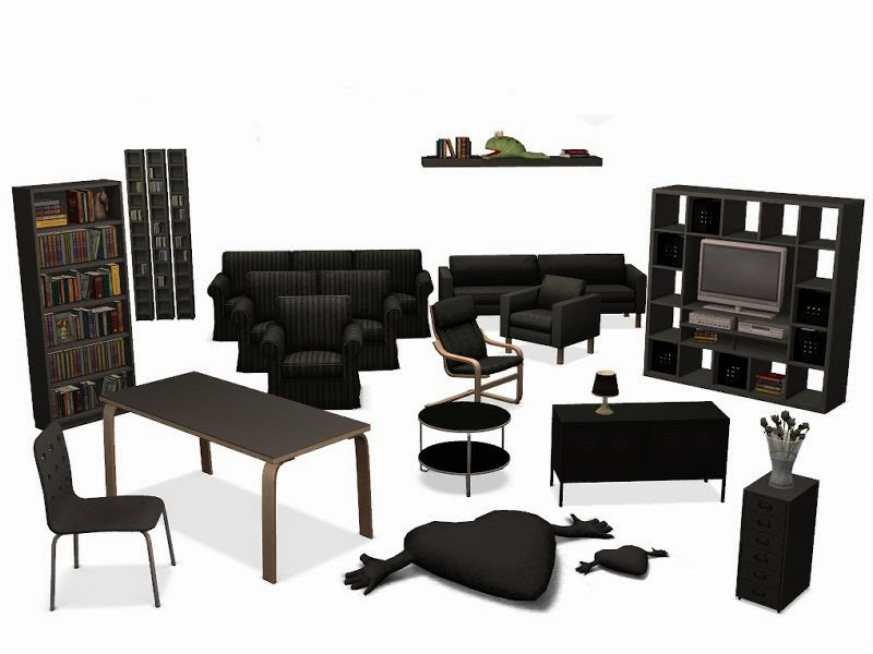 simplified sims 2 ikea m bel recolors. Black Bedroom Furniture Sets. Home Design Ideas