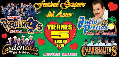 Pequeños musical, Julio Preciado, Cardenales de Nuevo León y Cardenalitos de Nuevo León Festival Grupero del Amor 2016 mexico boletos primera fila baratos no agotados