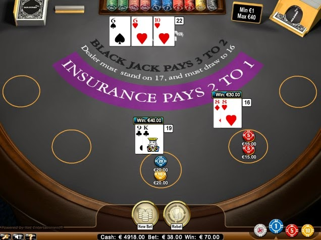 Maxino Blackjack Screen