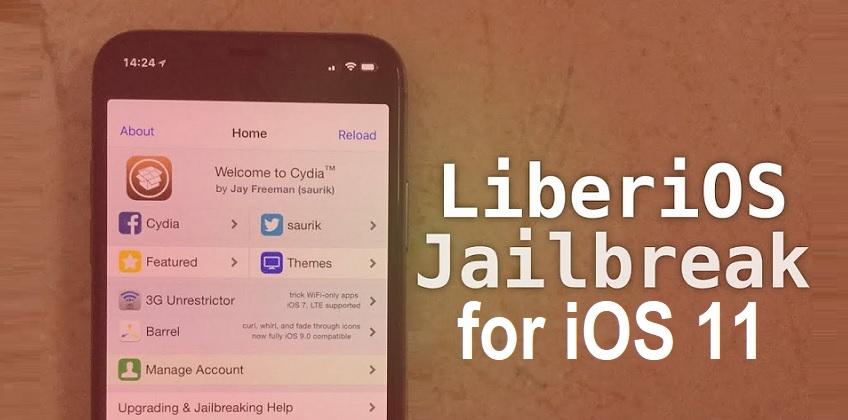 Jailbreak iOS 11 Using LiberiOS Tool