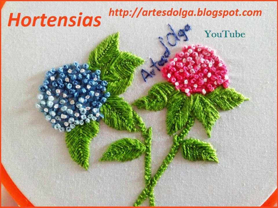 Artesd\'Olga: Aprende a Bordar Hortensias | Artesd\'Olga