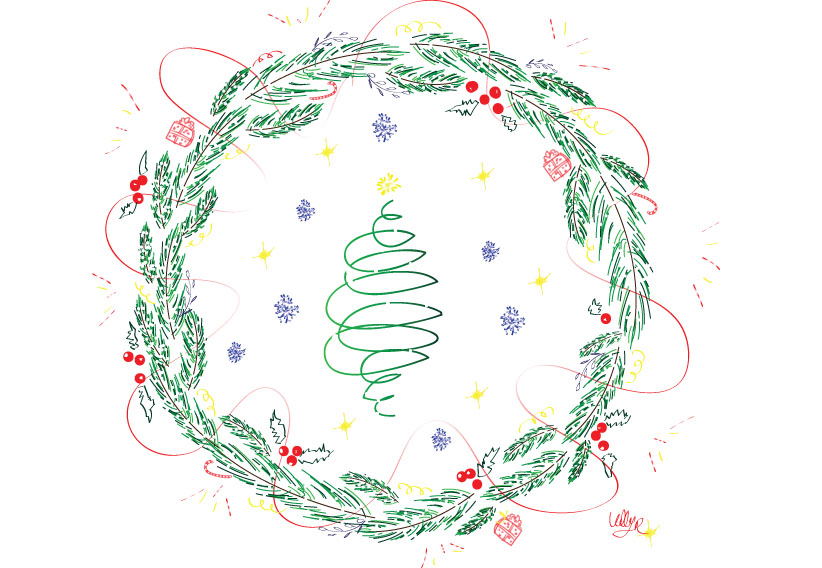 Draw on Monday #30, Fêtes, Noel, Christmas, Party, dessin, illustrator, blog, tablette graphique,