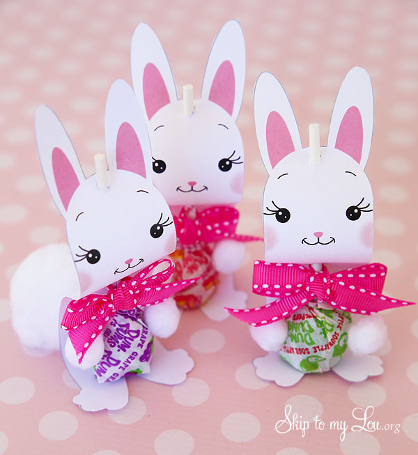 bunny lollipop holders