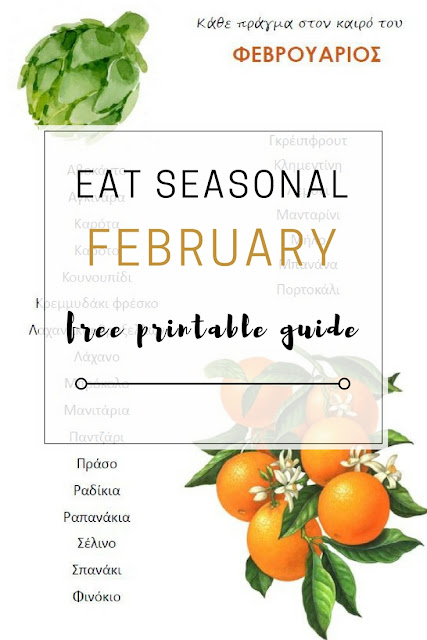 Seasonal eating: February free printable guide - Edit your Life Magazine