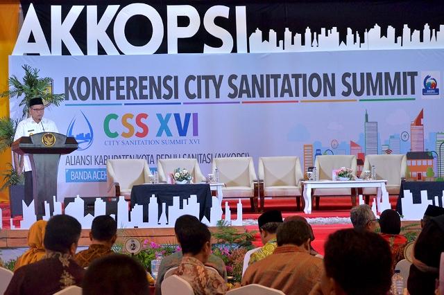 Di Konferensi City Sanitation Summit (CSS) XVI AKKOPSI Hasanuddin Paparkan Capaian Universal Akses Banda Aceh
