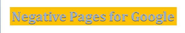 Negative Pages For Google