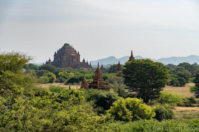 Vue du Monastère de Shwe-Man-Yin Taw - Bagan - Myanmar - Birmanie