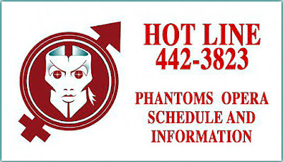 Phantom's Opera hotline card