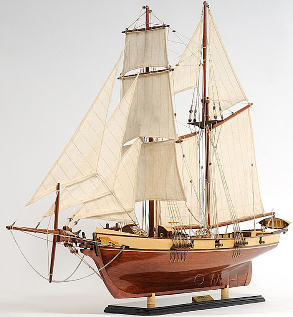 Baltimore Clipper Harvey Wooden Model Boat Replica