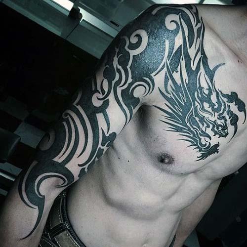 dragon tattoos arm and shoulder ejderha dövmeleri