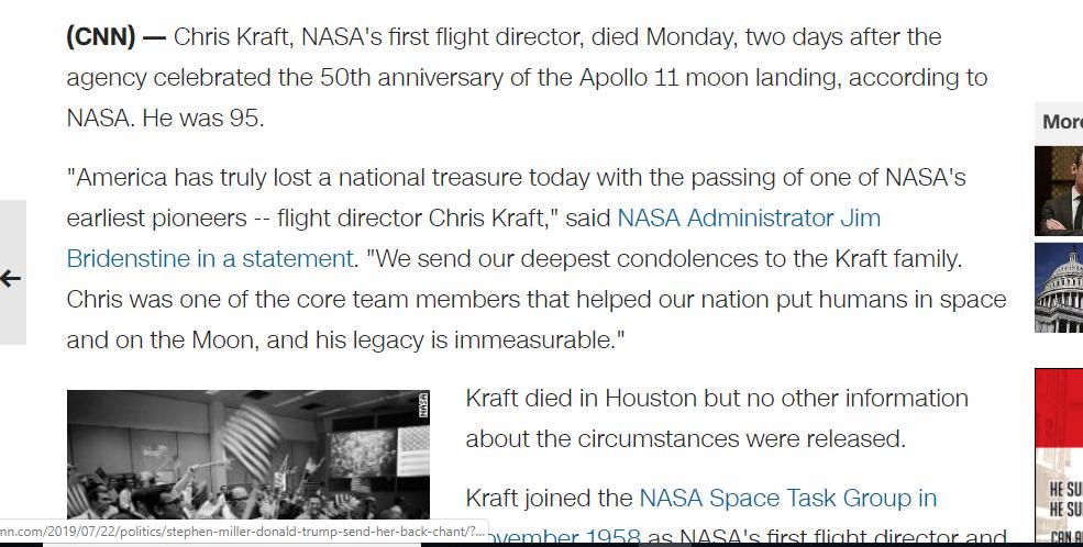 The Mindless Freaks: NASA's Chris Kraft dead at 95-Pi-Slipknot