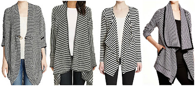 Striped Drape Cardigan • $22.99 BB Dakota Women's Mayer Stripe Mixed Cardigan Sweater • BB Dakota • $47.99–48.06 Striped Cocoon Cardigan • $39.99 C by Bloomingdale's Striped Open Cardigan • Bloomingdale's • $201