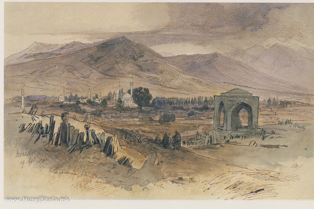 Edward Lear, Битола 20 септември 1848 година. Панорама на Битола од Турските гробишта