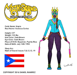 Hupia Myth of Sound Daniel Ramirez Puerto Rican super hero female