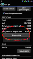 Fungsi Hapus data di setting Aplikasi Android