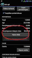 Fungsi Hapus data di setting Aplikasi Android