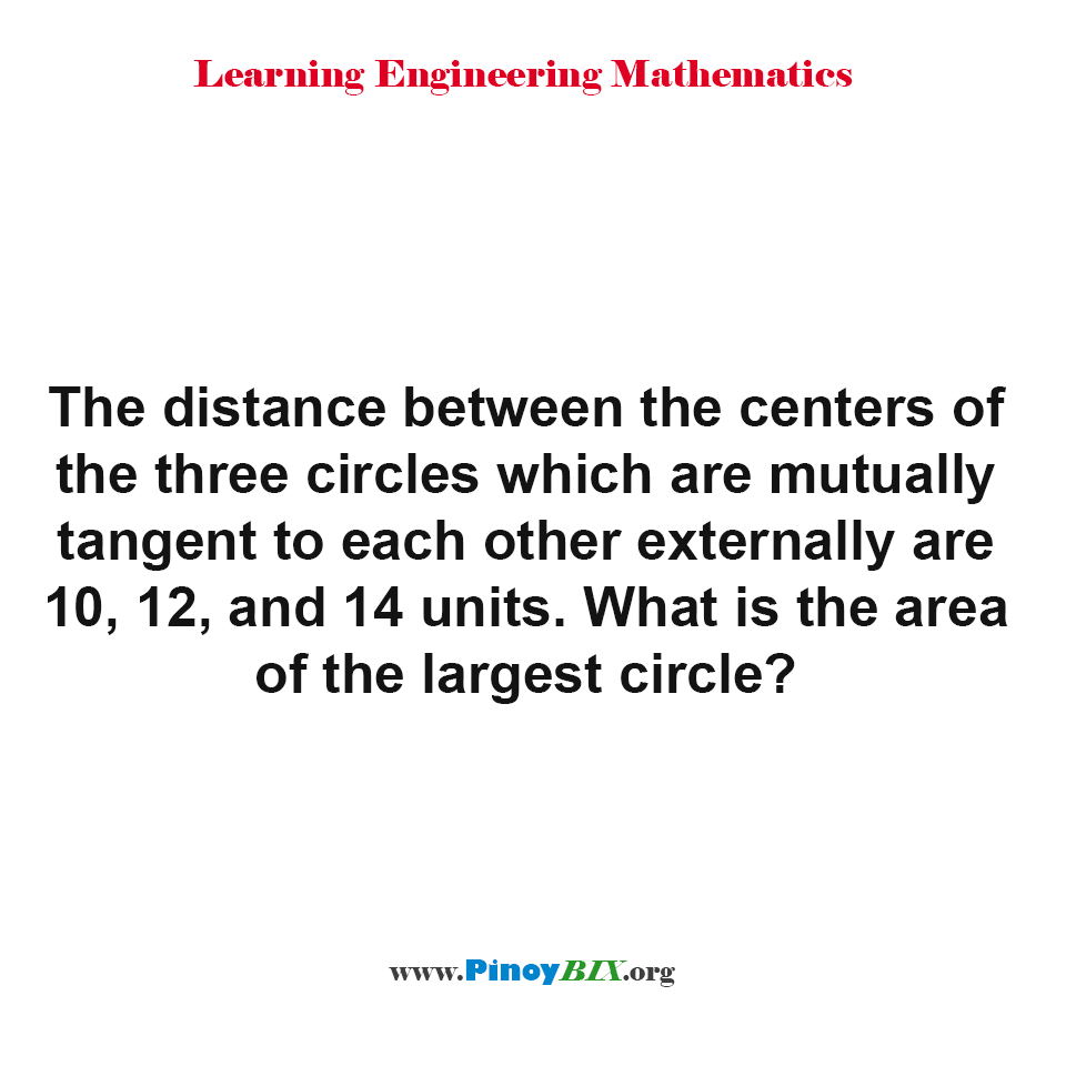 What is the area of the largest circle?