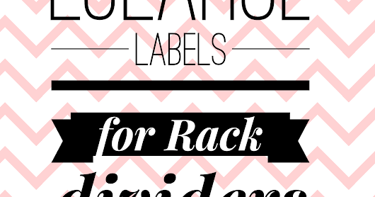 DIY Labels for Clothes Rack Dividers