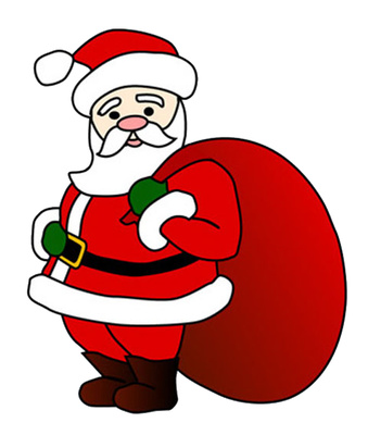 Cute Christmas Santa Claus Images, Pictures, Clipart, Drawing