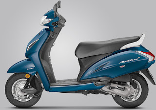 Honda Activa 5G Trance Blue Metallic colour
