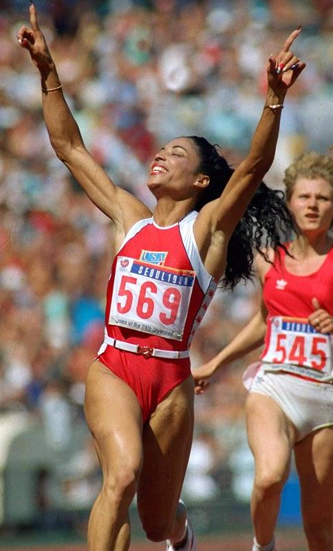 Florence Flo Jo Griffith-Joyner 1988 Summer Olympics Seoul, Korea