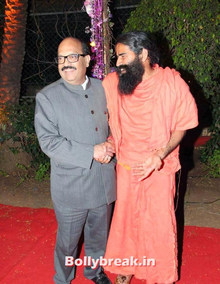 Amar Singh, Ramdev, Ahana Deol Wedding & Reception Pics