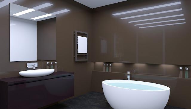 Un bagno sempre più di design con l'illuminazione adeguata
