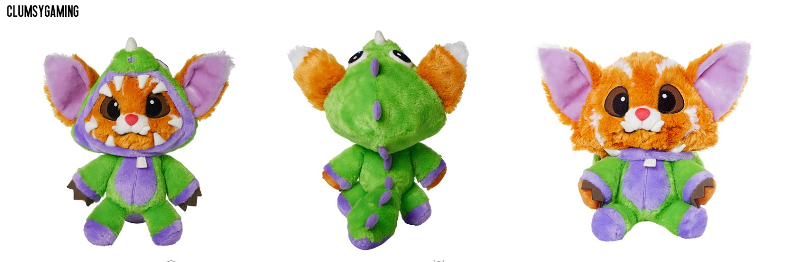 peluche gnar dinosaurio league of legends