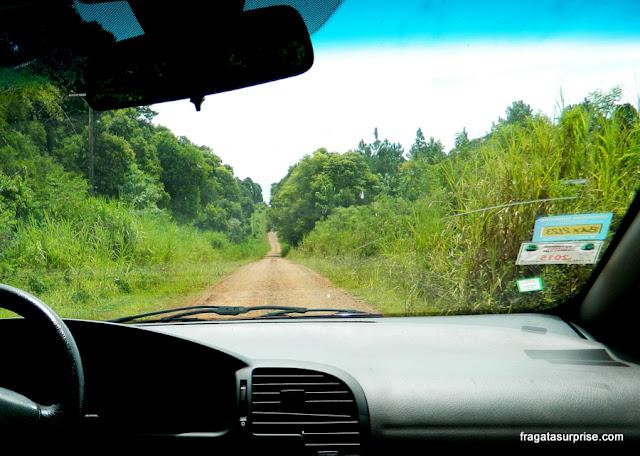 Estrada para a casa de Che Guevara em Caraguatay