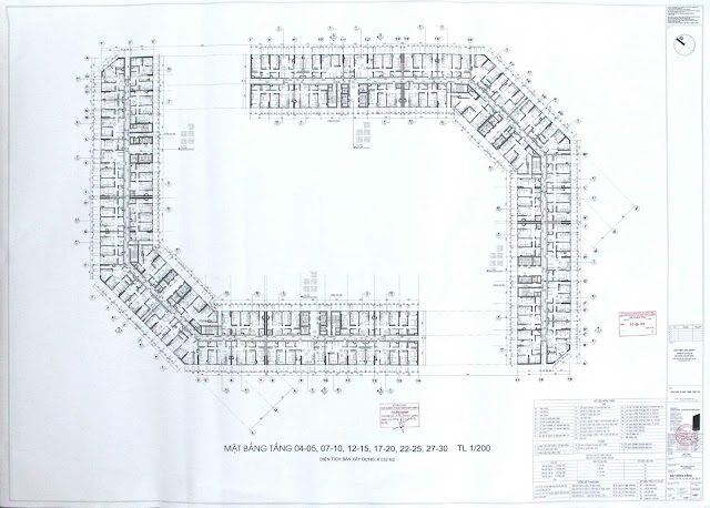 Mặt bằng căn hộ chung cư The Emerald CT8 Mỹ Đình